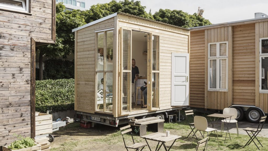 A tiny housing project by Tiny University Berlin, an experiment by Bauhaus Campus Berlin about small and smart living spaces in urban areas