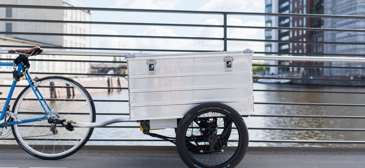 Electric bicycle trailer Nüwiel, invented by Hamburg students