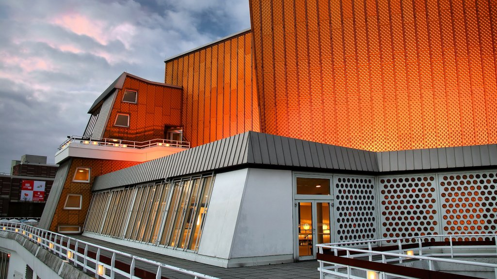 The Berlin Philharmonie, concert hall of the Berlin Philharmoniker, from the outside
